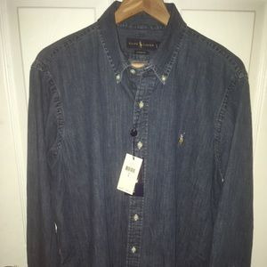 Polo Ralph Lauren denim button up shirt / L